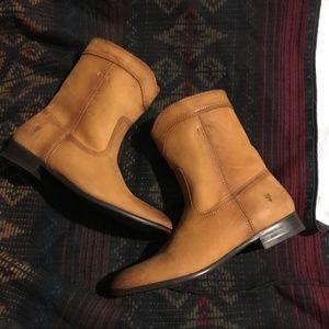 Frye Cara Roper Short Leather Cowboy Boots
